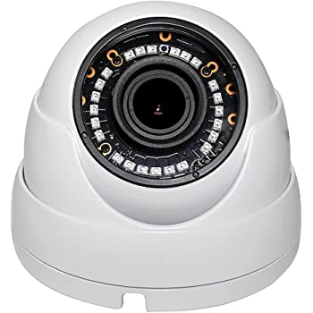4 in 1 Indoor Outdoor Weatherproof IP66 1080p HD 2MP Motorized 2.8-12mm 4x Optical Zoom Varifocal Dome Camera Over Coax, HD CVI TVI AHD and Analog CCTV ...
