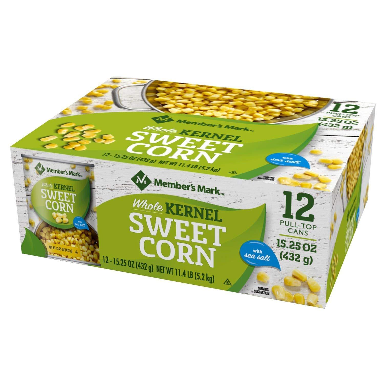 Member's Mark Whole Kernel Corn 15.25 oz, 12 pk. A1