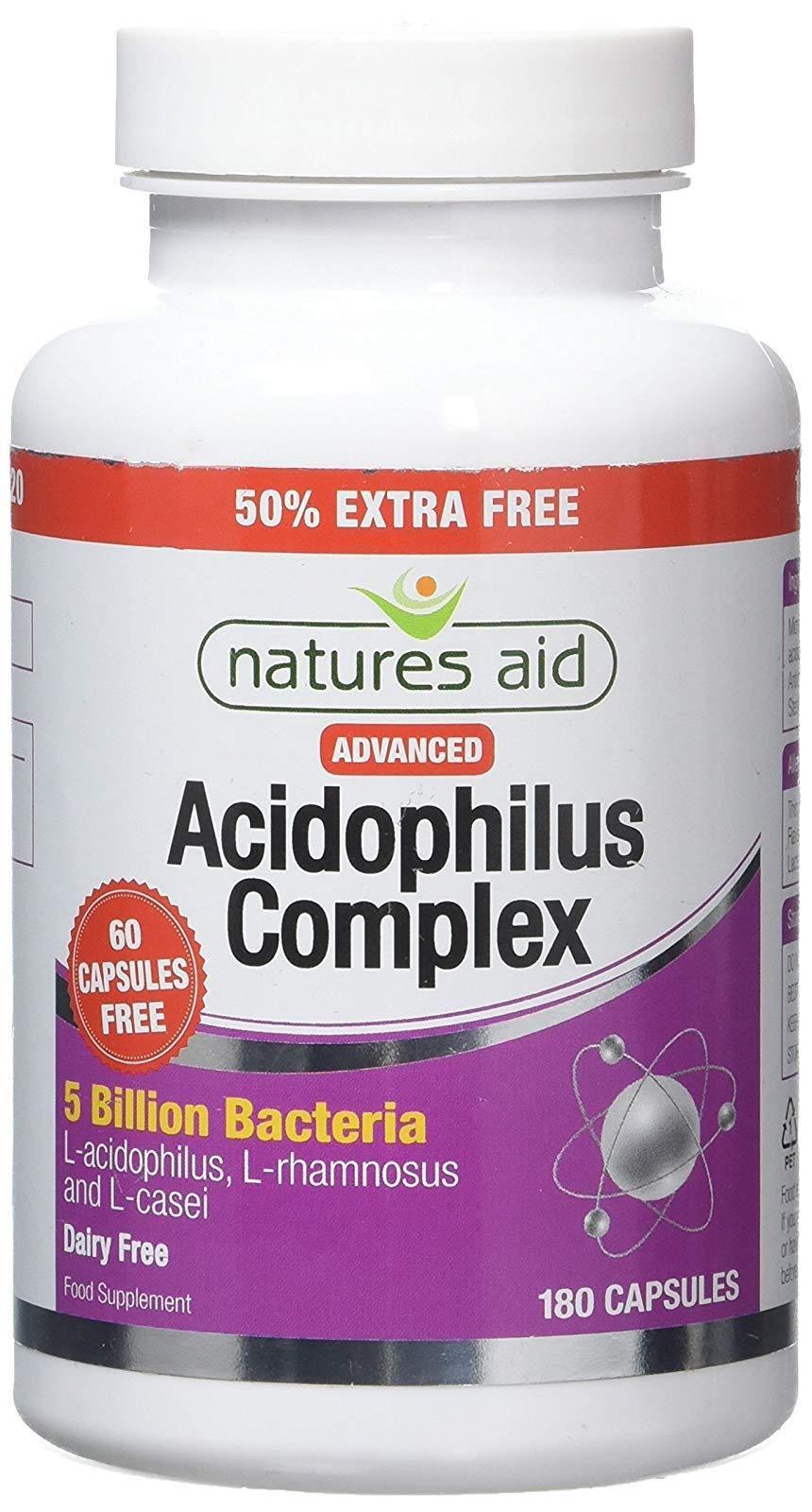 Natures Aid Acidophilus Complex 5 Billion 180 Vcaps - 5 Pack