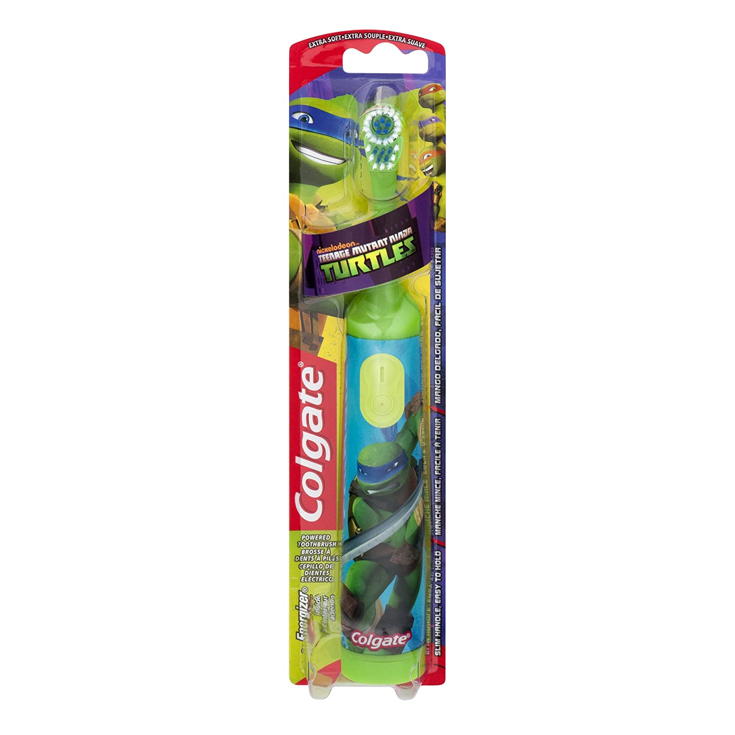 Amazon.com: Colgate Childrens Teenage Mutant Ninja Turtles Powered Toothbrush, Soft, 1 ea (Pack of 2): Beauty