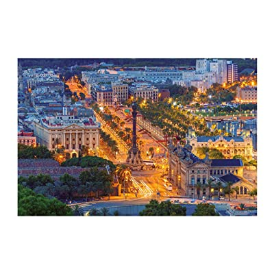 1500 Piece Jigsaw Puzzle for Adults - Night City Landscape Puzzles - Educational Intellectual Decompressing Fun Game for Kids Adults - Jigsaw Large Puzzle Game Kill Time Toys Gift: Toys & Games