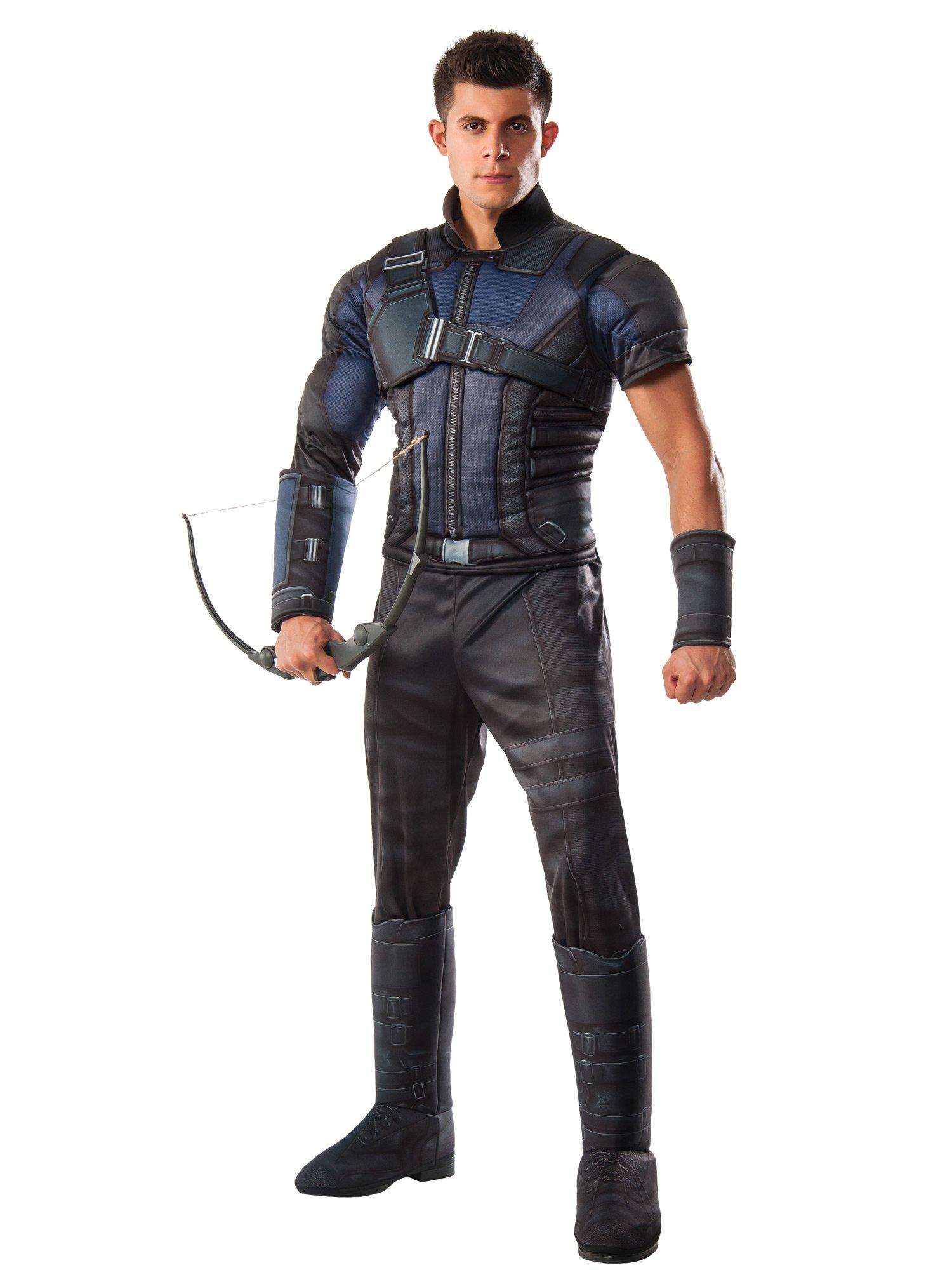 Rubie's Costume Co Marvel Men's Captain America: Civil War Deluxe Muscle Chest Hawkeye Costume