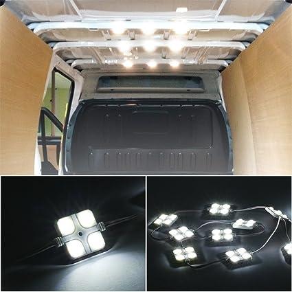DC 12 V Caravan White Motorhome Ceiling Light AMBOTHER 30 LED Car Interior Lights Kit LED Project Lens Lighting Lamp Work Light for Truck Car Kit Vehicle