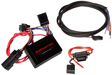Kuryakyn 2595 Motorcycle Accessory: Plug & Play Trailer Wiring with on