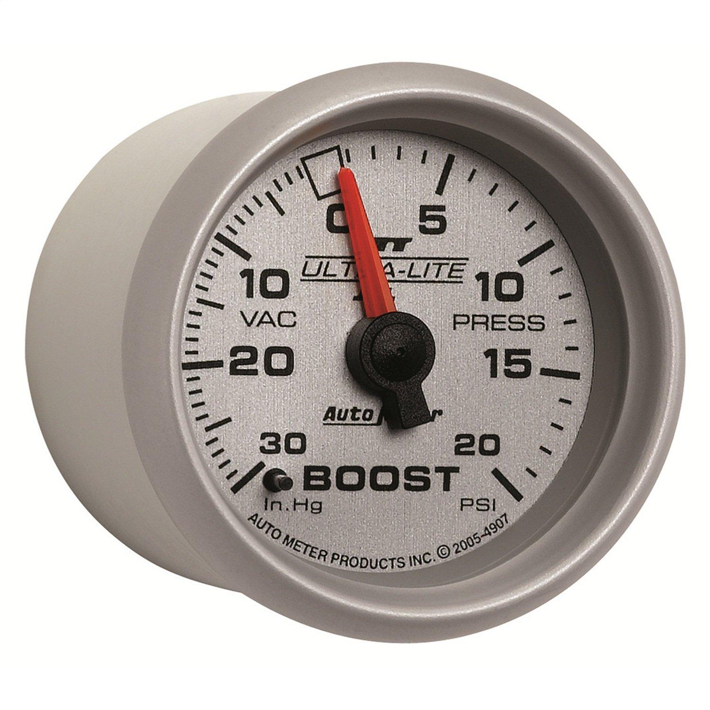 Auto Meter 4907 Ultra-Lite II 2-1/16' 30 in. Hg/20 PSI Mechanical Vacuum/Boost Gauge