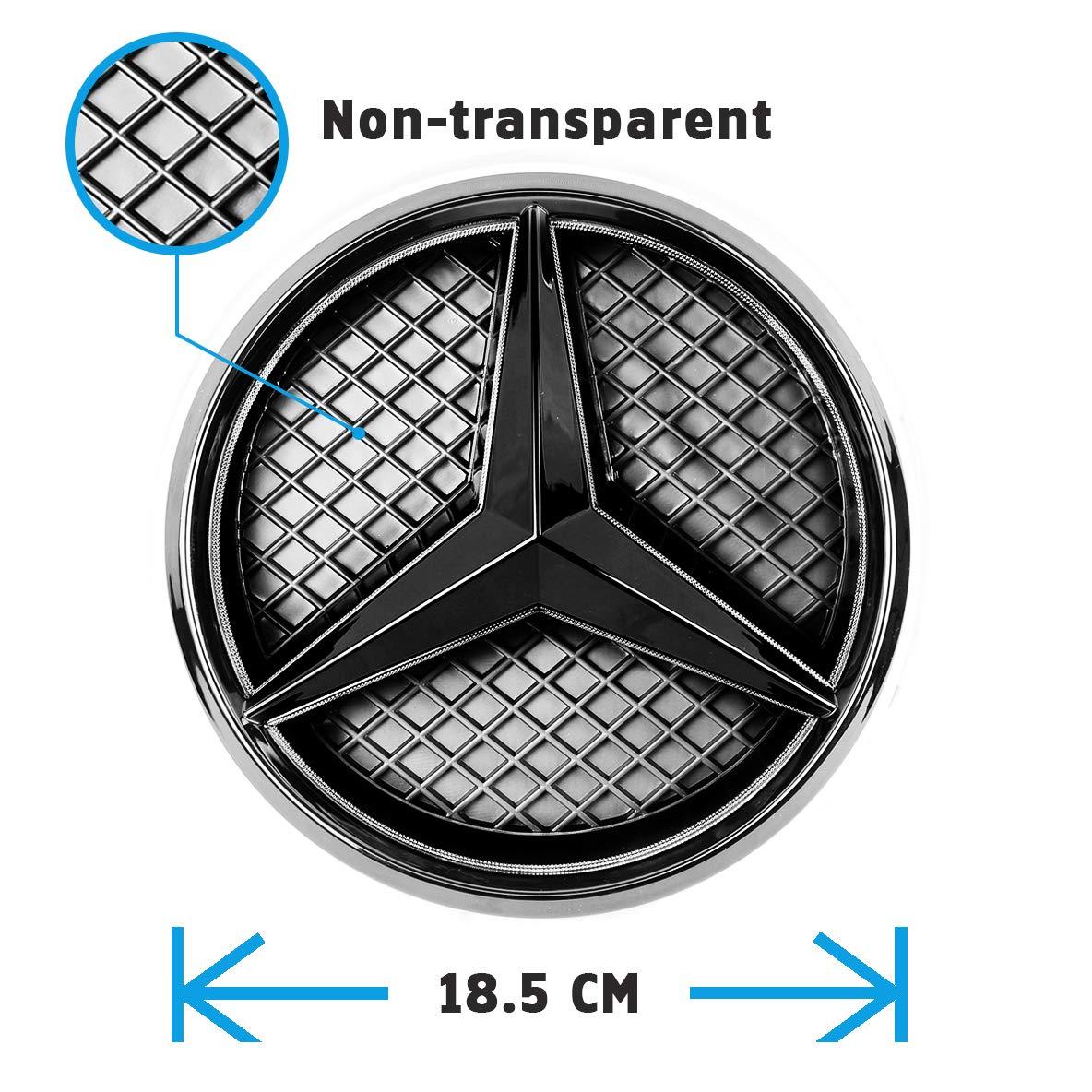 JetStyle LED Emblema 2011 - 2018, Negro Rejilla de Radiador Logotipo, Logo Automotriz Iluminado, Aros Resplandecientes, Auto Luces Diurnas Blanco ...