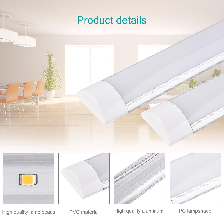 LED tube r/églettes lumineuses led 10W 20W 30W 40W SMD2835 LED de Cabinet pour le bureau de Cabinet et l/éclairage commercial Blanc Froid, 10W Classe /énerg/étique A + Shinning-star Lumi/ère de bande de LED