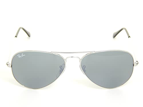 Amazon.com: New Ray Ban Aviator Rb3025 W3275 Plata vidrio ...