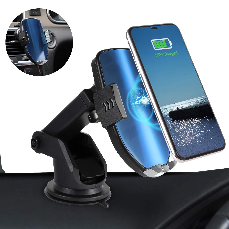 HUAWEI P30 Pro. Zeonetak Caricatore Wireless Auto,10W Ricarica Veloce Rotazione a 360 /° Senza Fili,per iPhone XS//Max//X//8//8P,Samsung S10//S9//S8//Note 8
