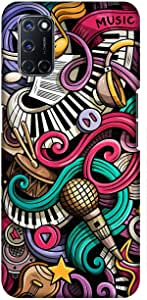 Case Box Silicone Back Cover With Multi Color Printing for oppo A52 , 2725619149459