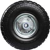 MaxxHaul 50501 Diameter 10' Flat Free All Purpose Tire with 5/8' Ball Bearing Axle Bore Dia, Black