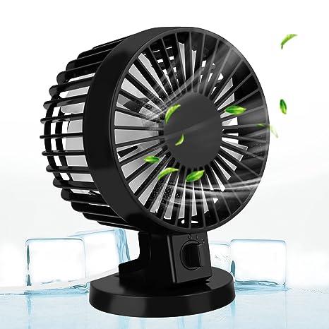 Ventilador De Mesa, Aodoor Ordenador Portátil Pequeño Ventilador Recargable Mini USB Fan en Casa y