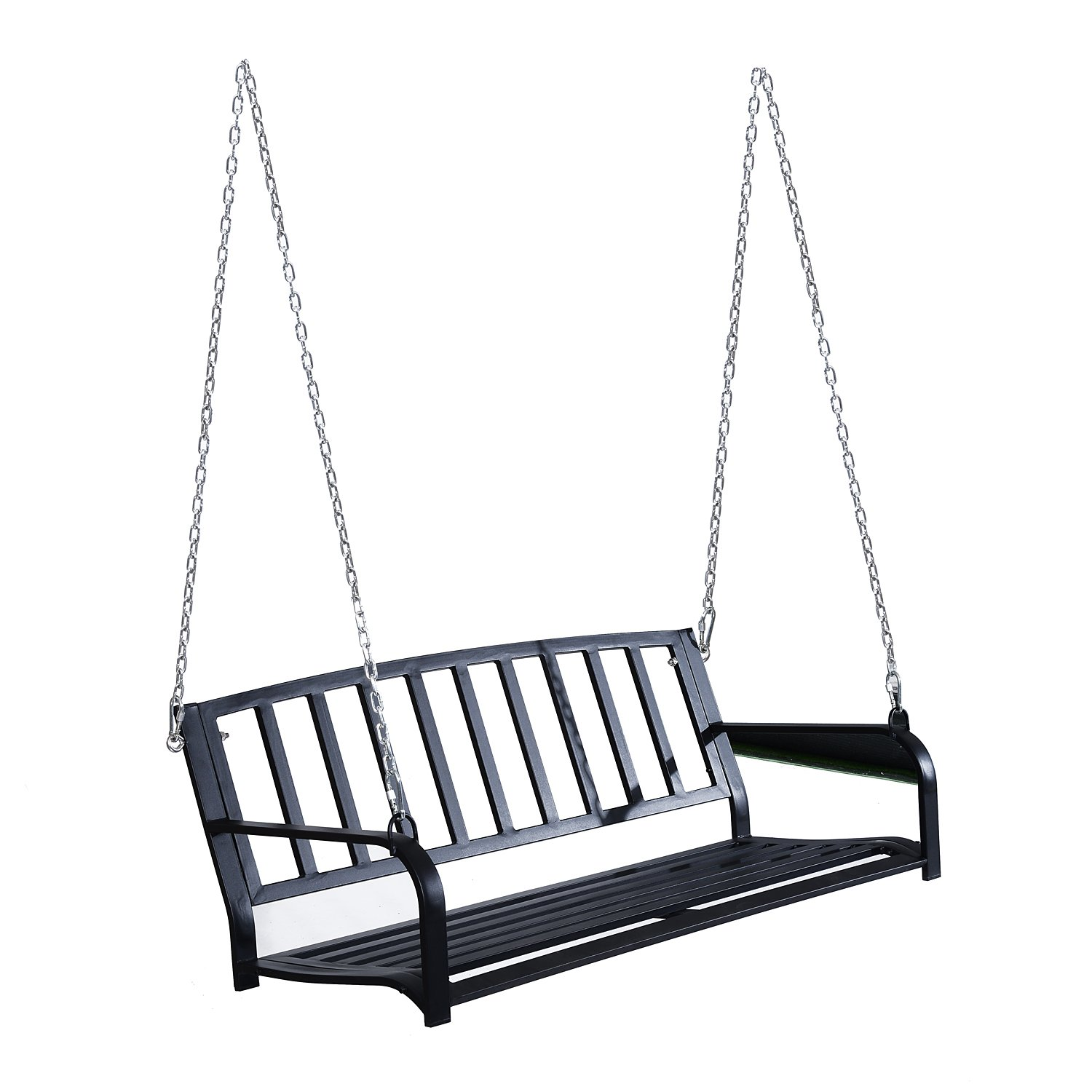 Outsunny 50'' Outdoor Patio Hanging Porch Swing Chair Bench Seat