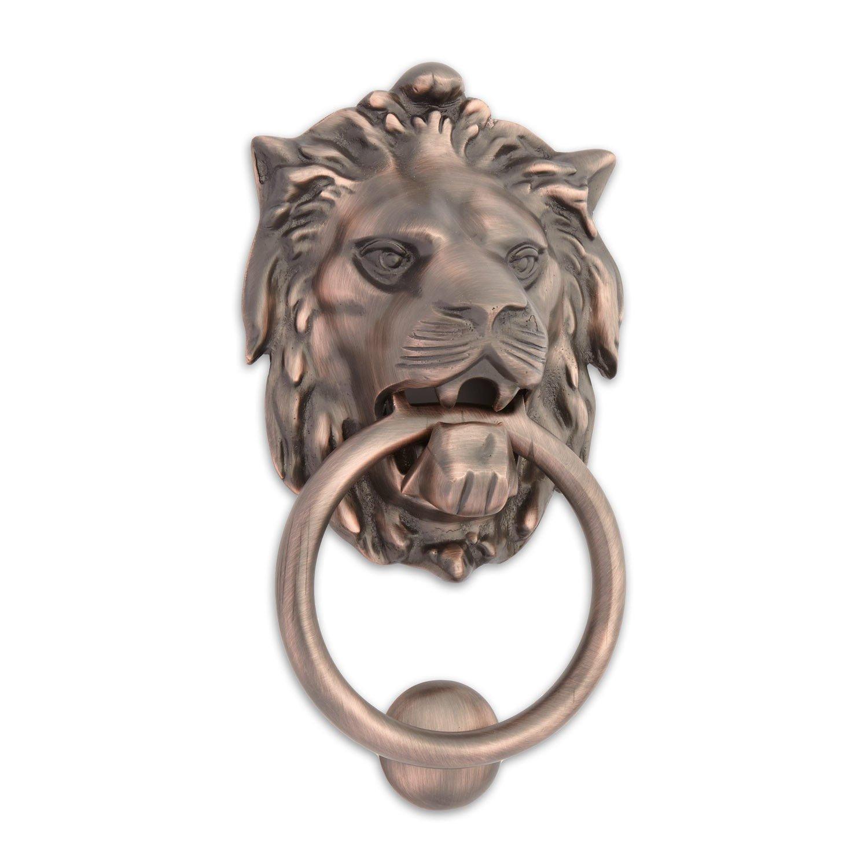 Casa Hardware Large Brass Lion Door Knocker - Oil Rubbed Bronze