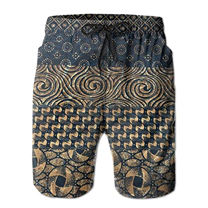 004be6eb7a Men's Quick Dry Beach Board Shorts Original African Ethnic Casual Swim  Trunks Surf Pants With Mesh