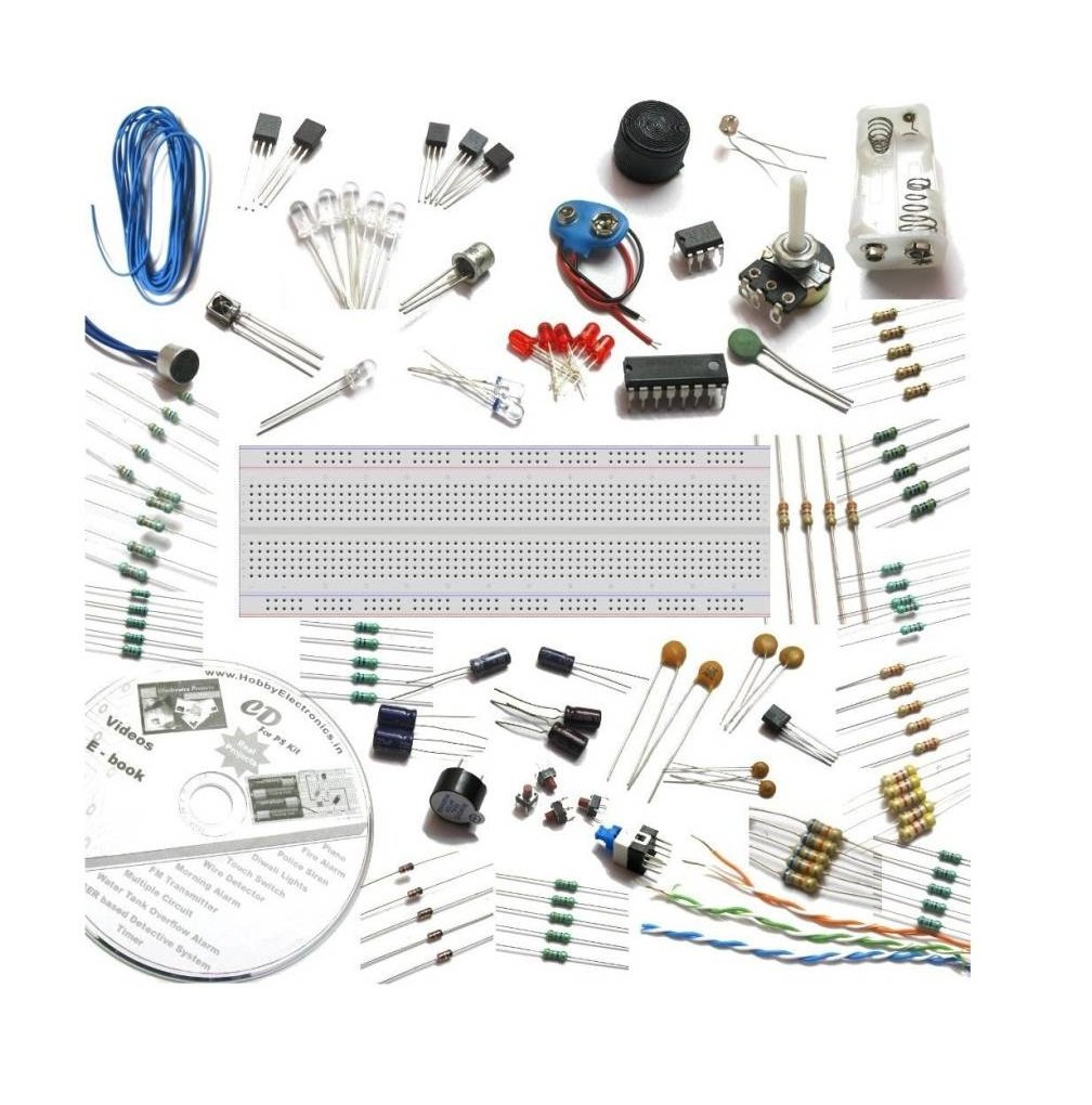 Buy He Retail Supplies Electronic Project Circuit Starter Kit 30 Circuits Hobby Fm Transmitter 6 2 In 1 With Spares Videos Dvd Ebook Multi Colour Online At Low Prices