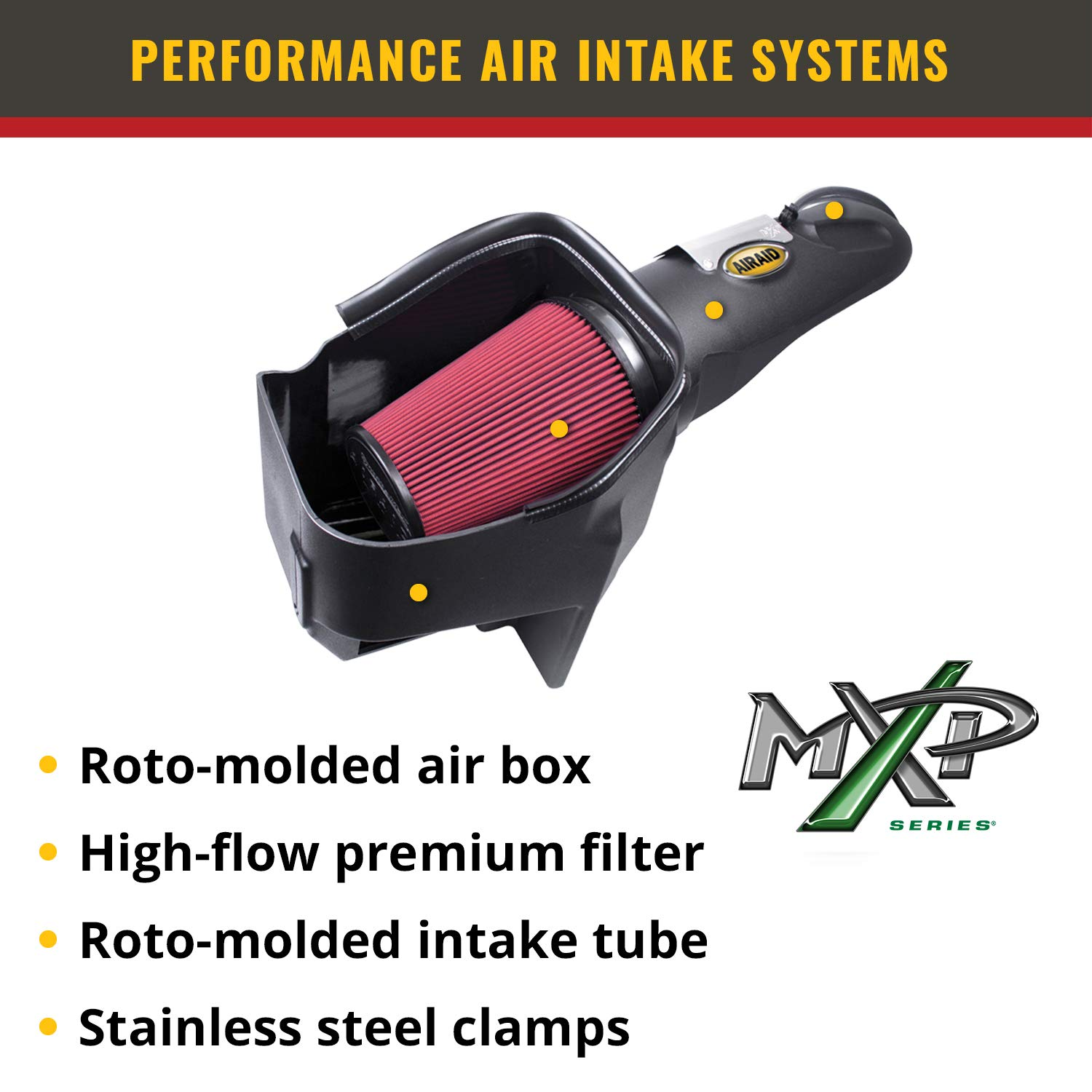 Airaid 251-216 SynthaMax Dry Filter Intake System
