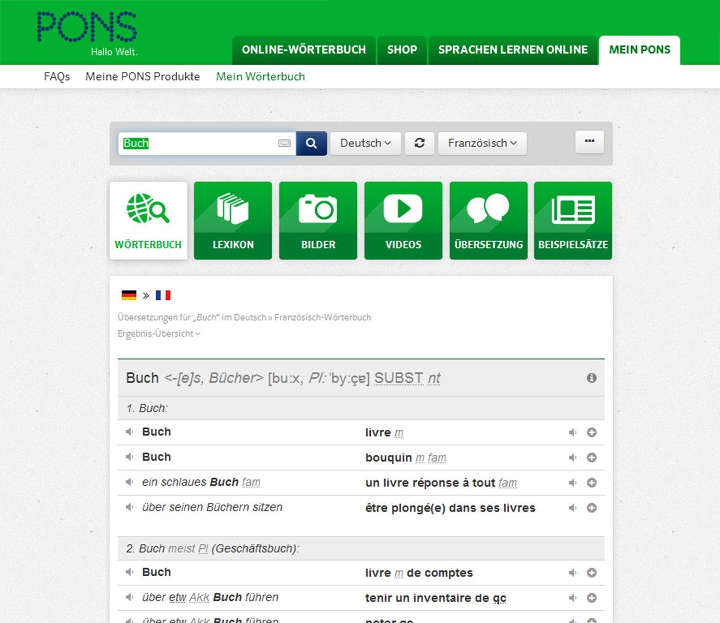 PONS Standardwörterbuch Französisch  75.000 Stichwörter und Wendungen. Mit intelligentem  Online-Wörterbuch. Französisch-Deutsch   Deutsch-Französisch  ... b1ca31e4a7