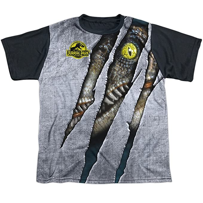 Jurassic Park Dinosaur Thriller Film Raptor Black Back Big Boys Black Back Tee