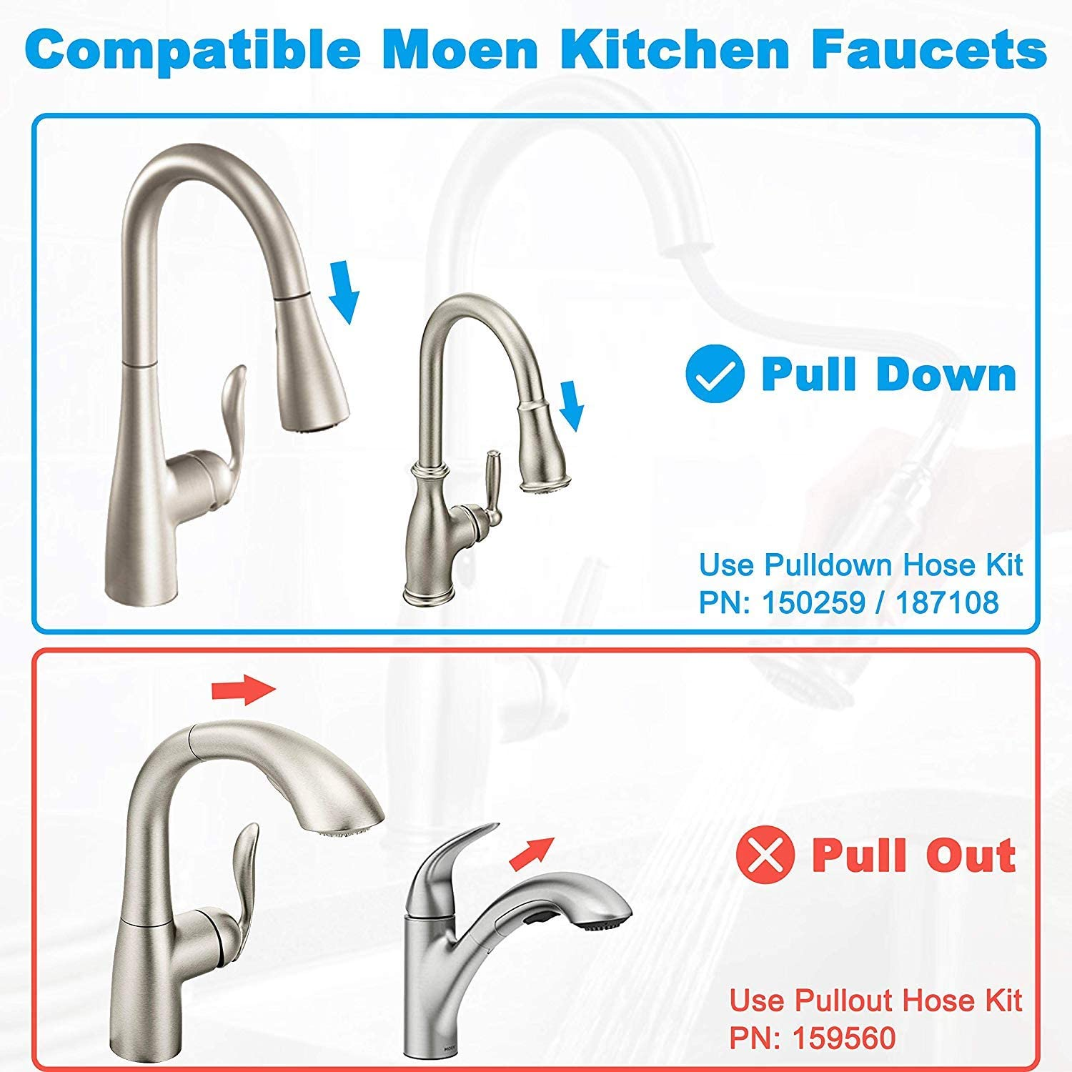 Kitchen Faucet Replacement Pe Hose Quick Connect Pull Down Kit Bathroom Fixture Kitchen Faucets Home Garden Worldenergy Ae
