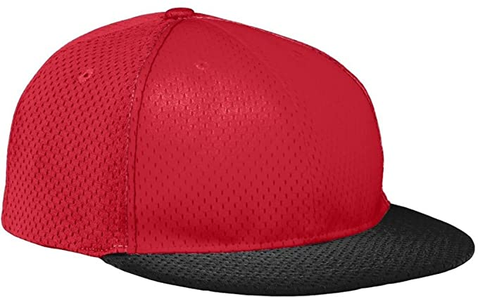 d6ed30c92ac Image Unavailable. Image not available for. Colour  Augusta Sportswear  ADULT ATHLETIC MESH FLAT BILL CAP ...