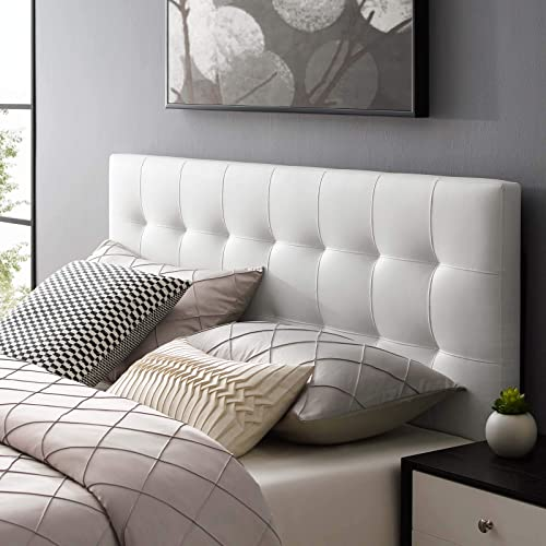Modway Lily Tufted Faux Leather Upholstered Queen Headboard
