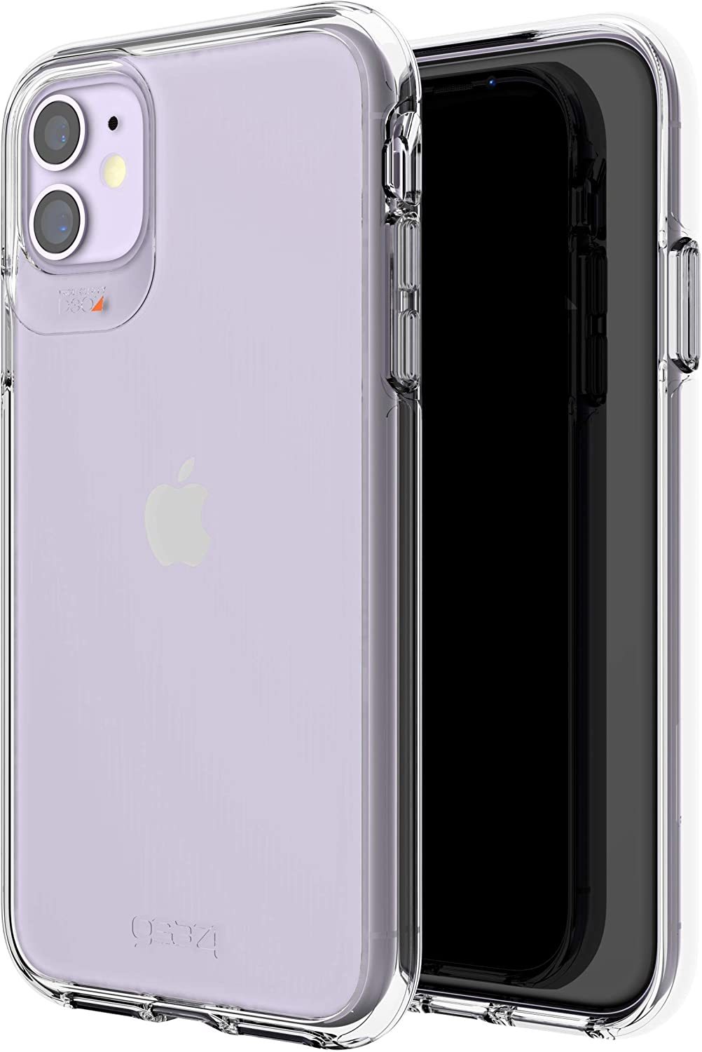 Gear4 Crystal Palace Clear Case with Advanced Impact Protection [ Approved by D3O ], Slim, Tough Design for iPhone 12 Pro, iPhone 12 – Clear