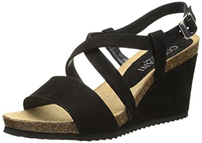 Cordani Women's Atwell Wedge Sandal, Black, ...
