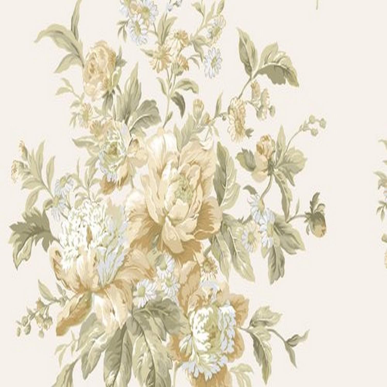 Waverly 5513113 Garden Beige And Peach Peonie Floral Wallpaper