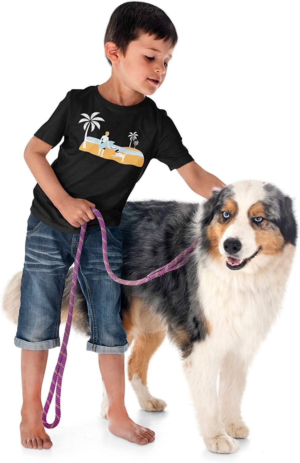 10/% of Sales Donated to Animal Shelters Youth Sizes 4-16 Boy/'s Beach T-Shirt by Fetch the Sun Great Gift for Dog Loving Kids /& Surfers
