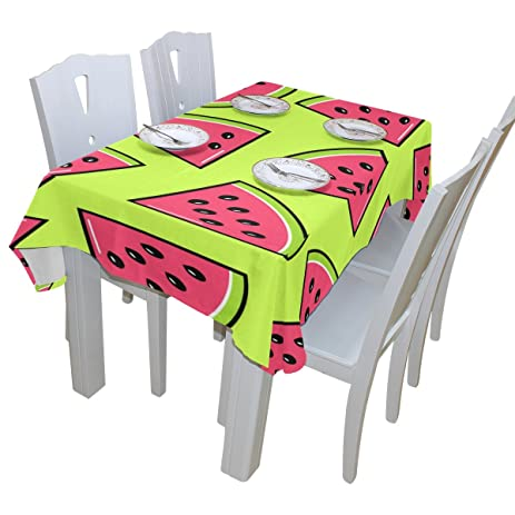 BAIHUISHOP Trendy Watermelon Slices Tablecloth Rectangular Polyester  Wedding Indoor Outdoor Oblong Dining Room Table Cloth Rectangle