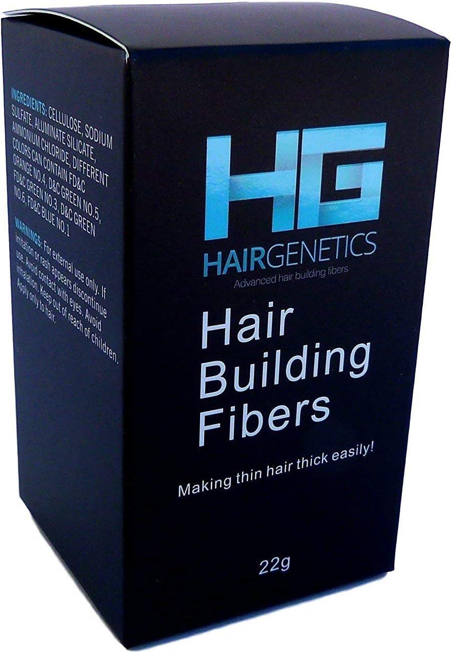 Hair Genetics® Fibras Capilares de Queratina para Cabello - Fórmula Avanzada Cero Picores de Calidad Profesional y Aspecto Natural para Hombres y ...