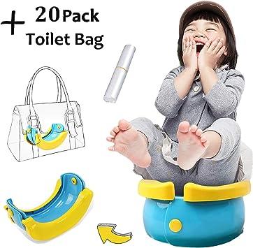 mit 10 pp taschen Kind tragbare toilette baby reise töpfchen klappstuhl