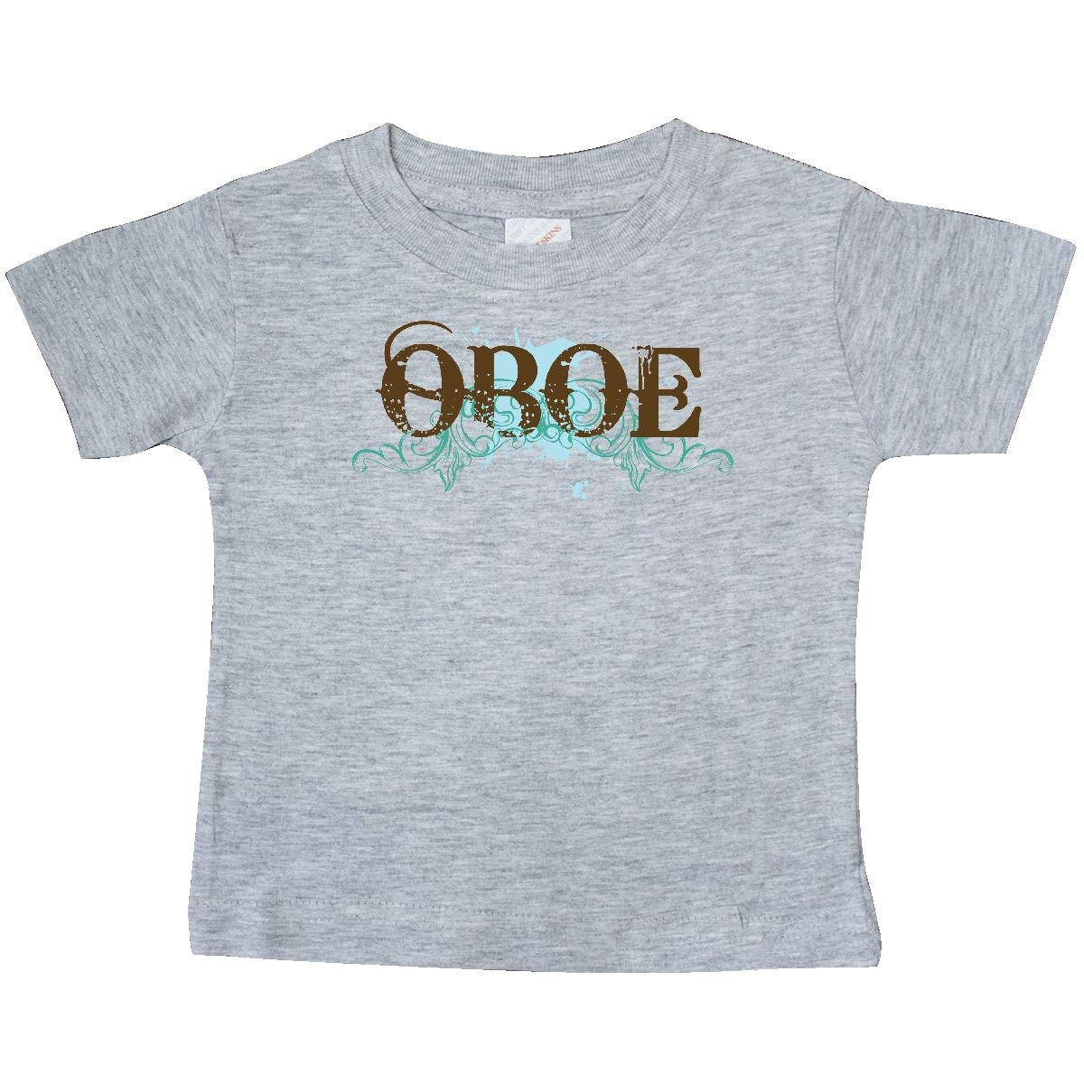 inktastic Blue Grunge Oboe Music Quote Baby T-Shirt