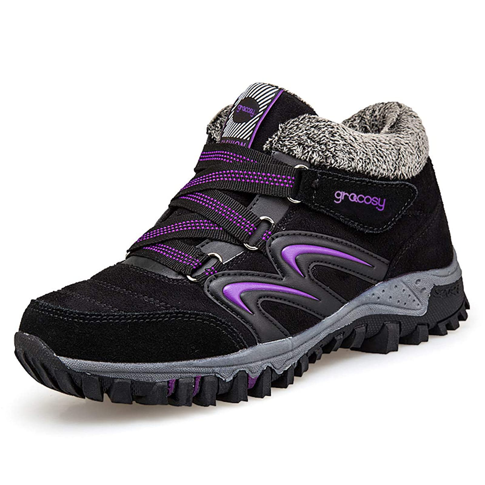 gracosy Women's Hiking Shoes High Top GRACOSYWERTY21416 - 2