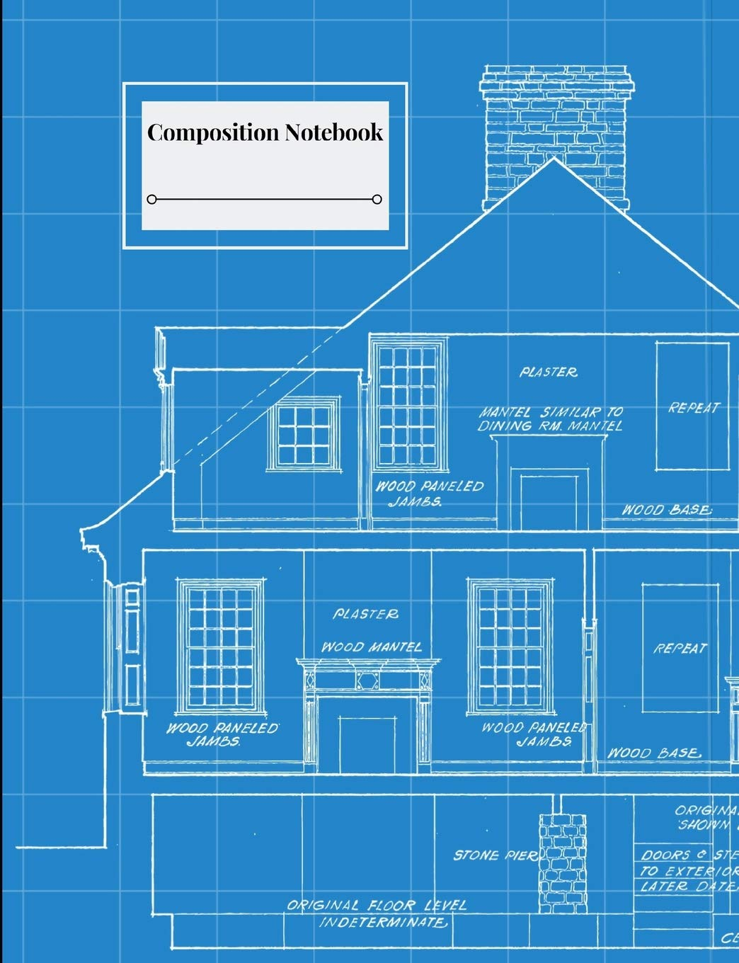 Composition Notebook Architecture Themed Blueprint Look House