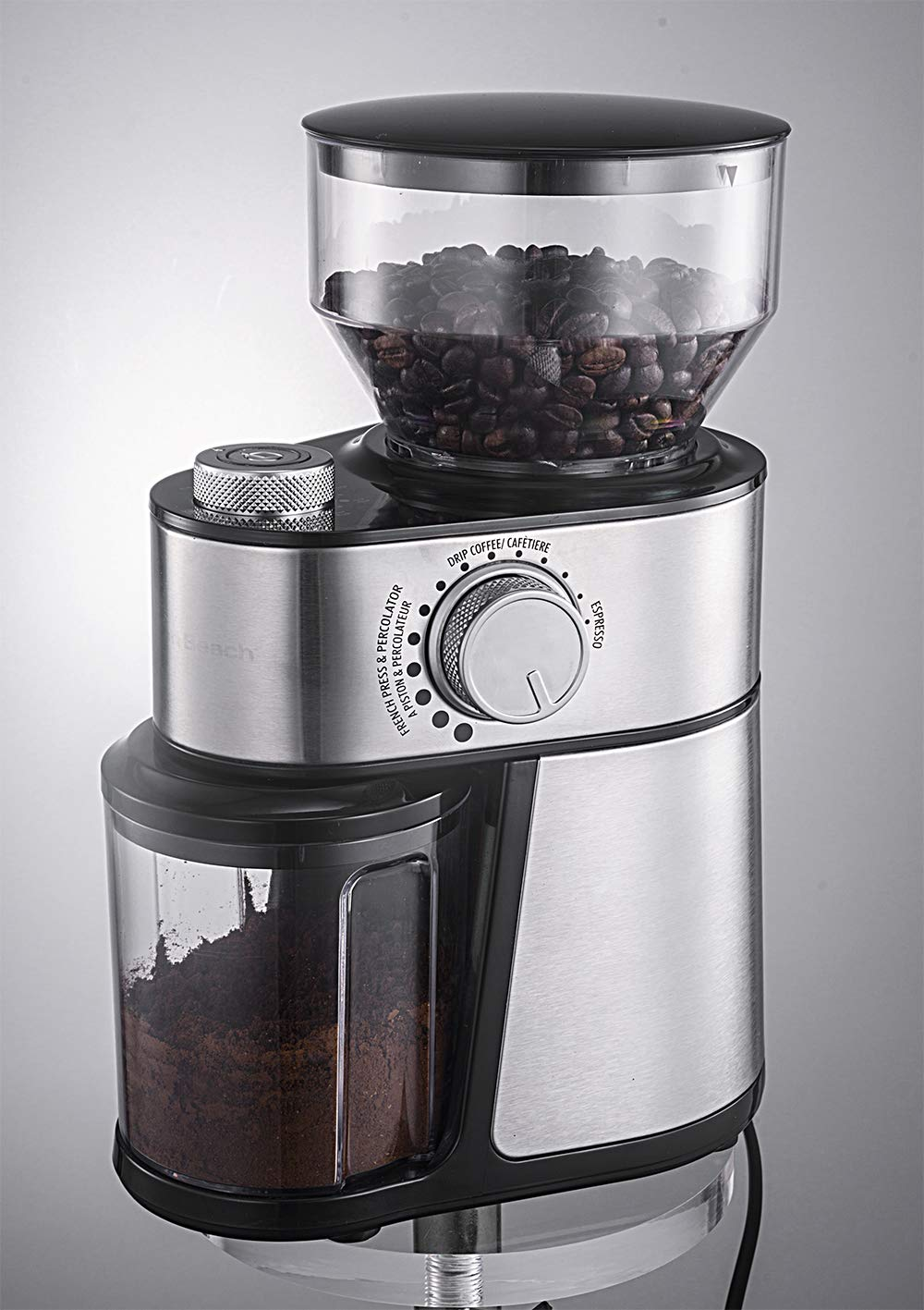 Andronicas Coffee Bean Burr Grinder Machine - Espresso Grinder Automatic Burr Electric Grinder for Drip, Percolator, French Press, American, Italian Coffee Makers 1 Year Guarantee Gift