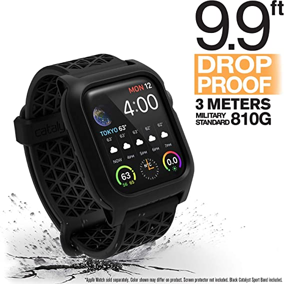 online store d5536 ca2b6 Catalyst Apple Watch Series 4 Impact Case 40mm ECG and EKG Compatible, with  Catalyst's Superior Sport Band Rugged iWatch Protective Case, Drop Proof ...