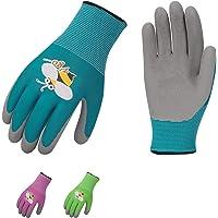 Vgo 3-Pairs Age 3-5 Kids Latex Gardening Gloves Work Gloves (XXXS, KID-RB6013)