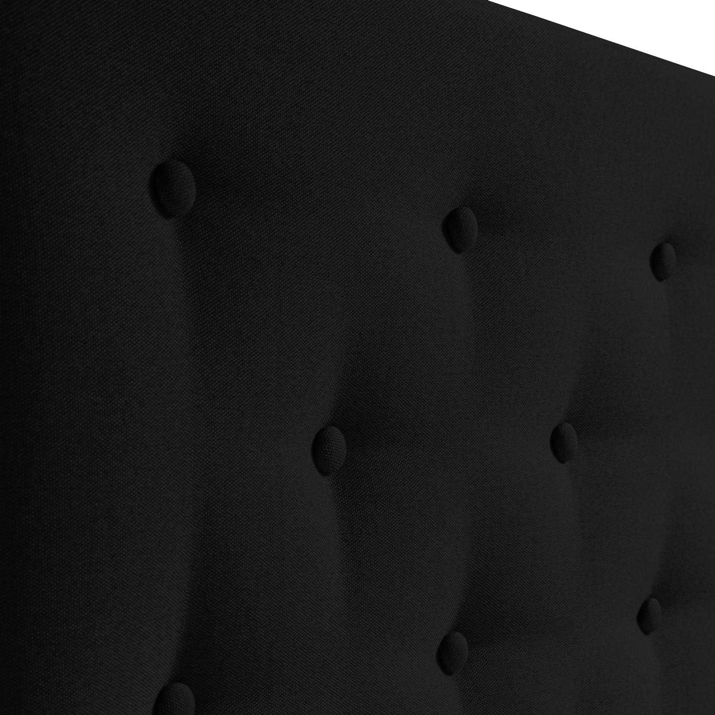 marckonfort Cabecero tapizado Oslo 140X100 Grosor de 8 cm capitone en Tela Antracita para Cama de 135