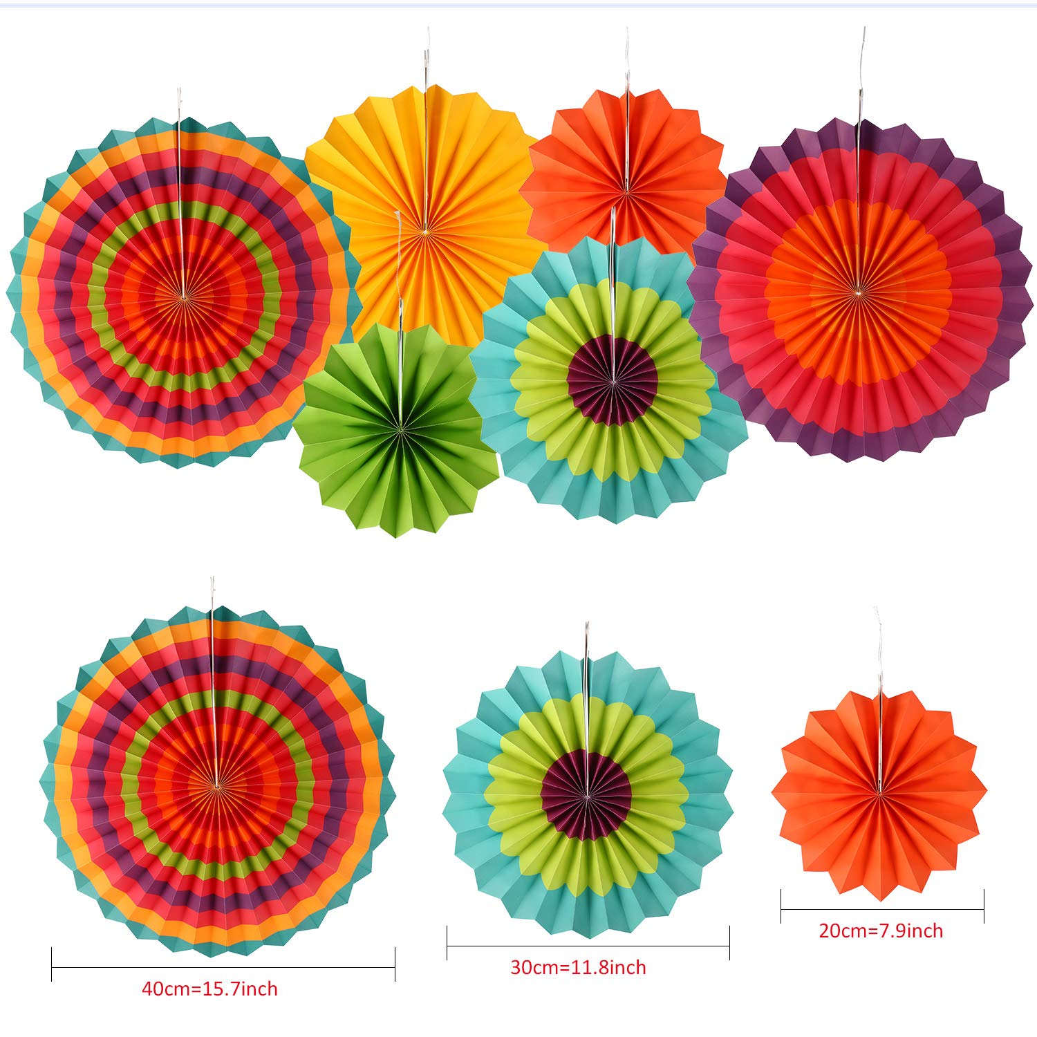 Mexican Bunting Flags and Hanging Paper Fans for Cinco De Mayo Mexican Fiesta Carnival Party Supplies or Decor Mexico Fiesta Banner 10 Pieces Mexican Party Decoration Set