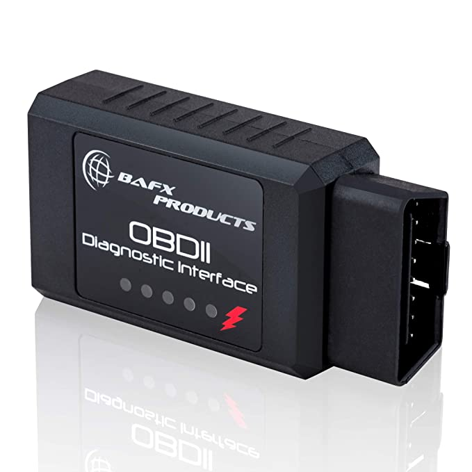 BAFX Products Wireless Bluetooth OBD2 OBDII Diagnostic Car Scanner Reader Tool For Android Devices Read Clear Your Check Engine Light So
