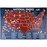us national parks map fridge magnet travel map of the united states magnetic dry