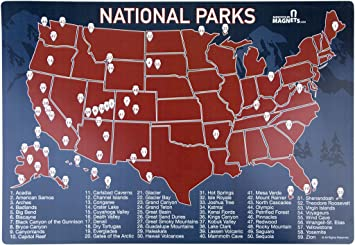 Amazoncom US National Parks Map Fridge Magnet Travel Map Of - Us map dry erase