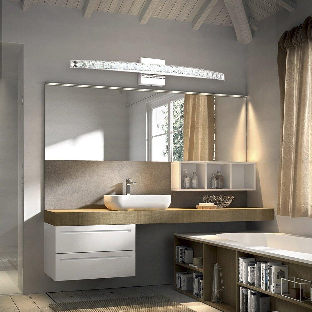 BANBUM Vanity Light 27.56 In 18W 6000K Daylight White LED Vanity Light crystal light fixture by BANBUM (Image #5)