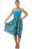 One-size-fits-most Tube Dress/Coverup - Crazy Paisley (many colors)