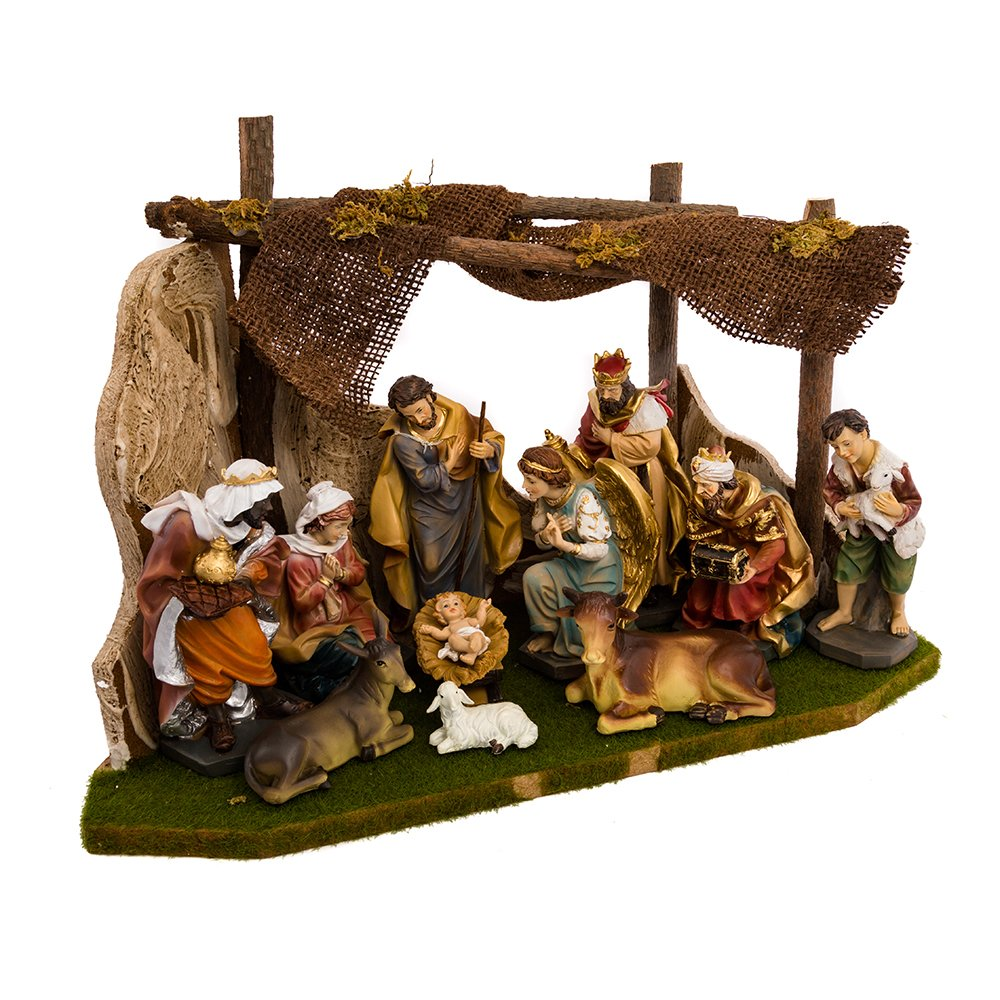 Kurt Adler Nativity Set with 11 Figures and Stable