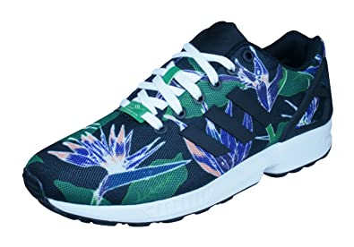 4a32e9855 Image Unavailable. Image not available for. Color  adidas Original ZX Flux  Mens Sneakers Shoes-Black-4.5