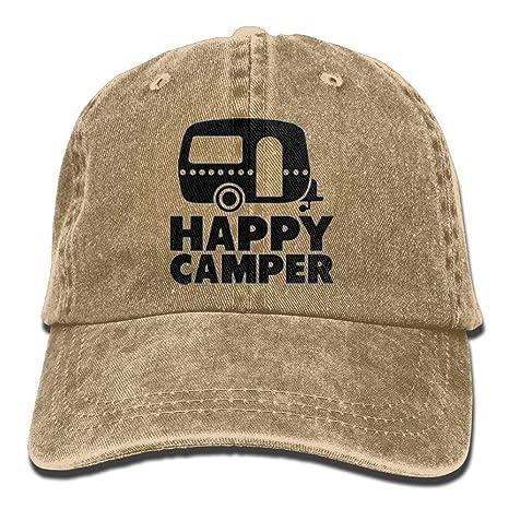 Happy The Camper - Gorra de béisbol para Hombre, Estilo Camionero ...