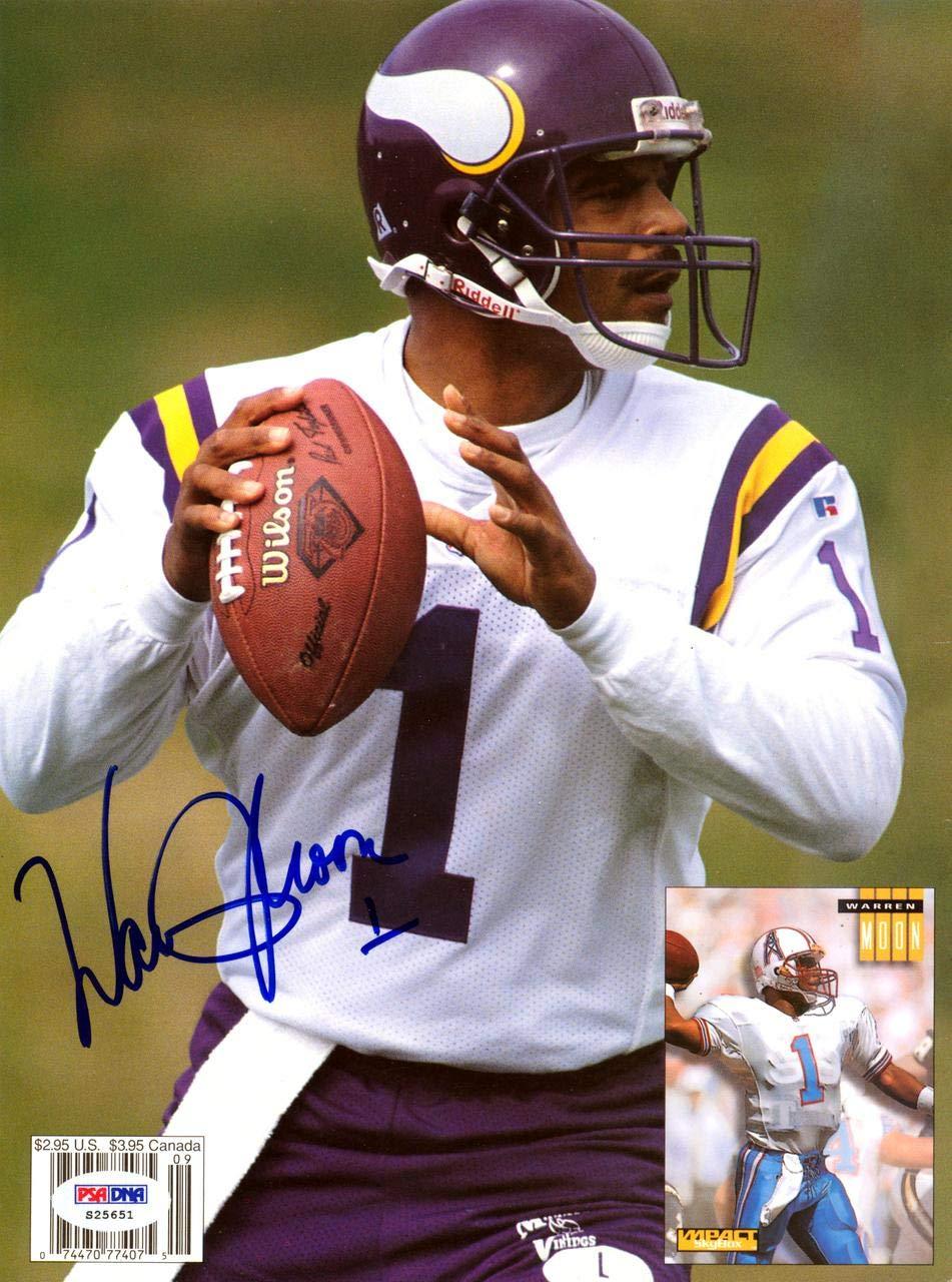 Warren Moon Autographed 8x11 Magazine Page Photo Minnesota Vikings #S25651 PSA/DNA Certified Autographed NFL Magazines